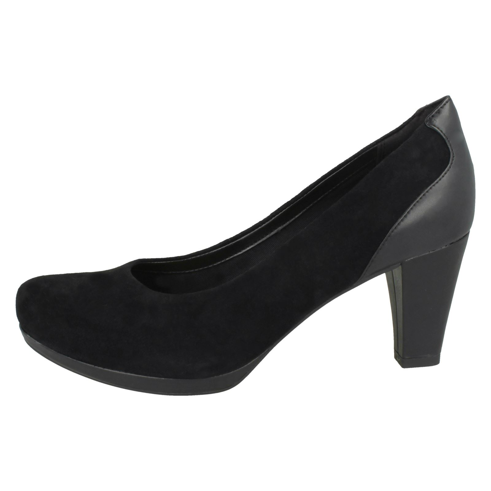 92d1f8eda Clarks Chorus Chic - Black Suede Womens HEELS 5 UK E 21192128. About this  product. Picture 1 of 10  Picture 2 of 10  Picture 3 of 10 ...