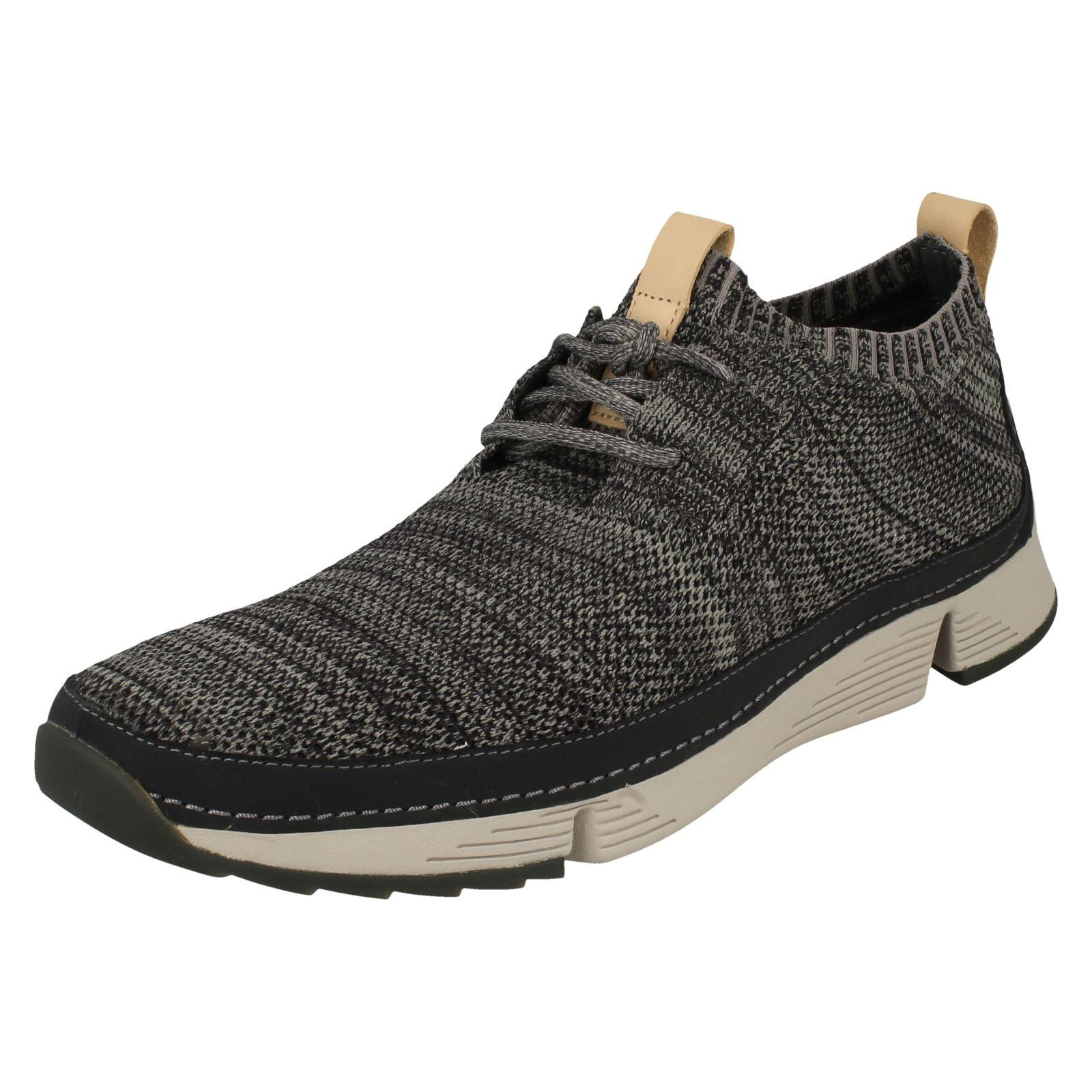 Uomo Clarks - Casual Lace Up Trainers - Clarks Tri Native f49615