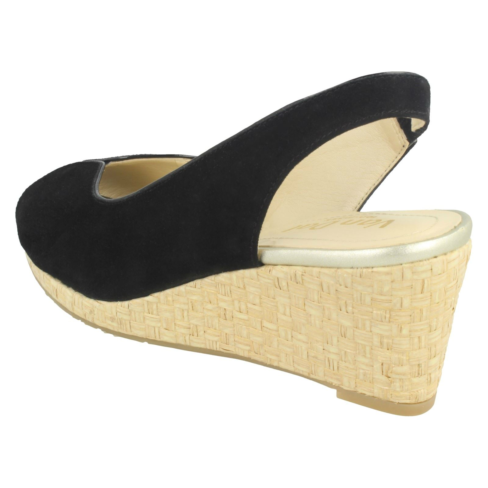 Ladies-Van-Dal-Leather-Wedge-Sandal-With-Woven-Detail-Avalon thumbnail 6