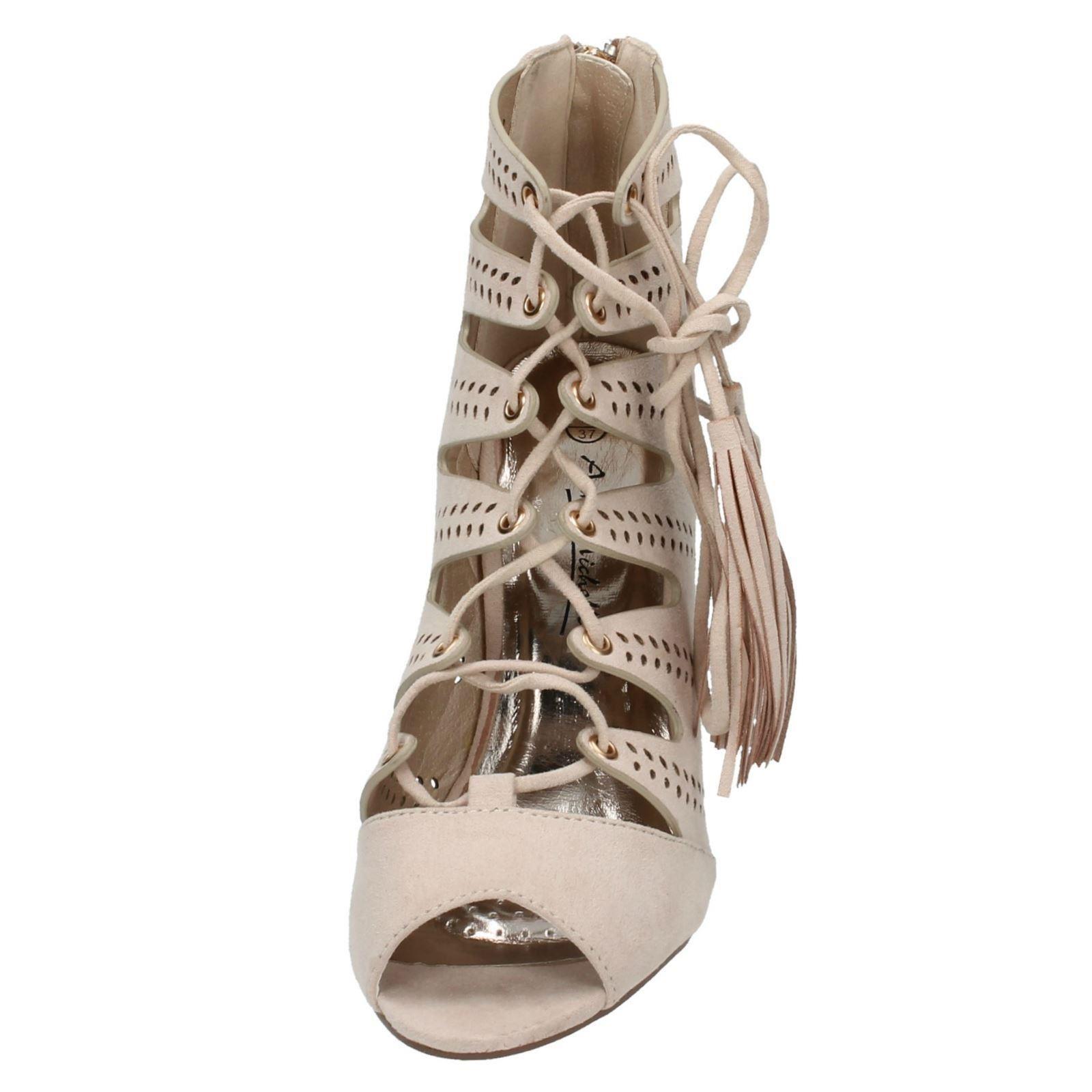 Damas Anne Michelle Sandalia tacones altos con cordones de F10475