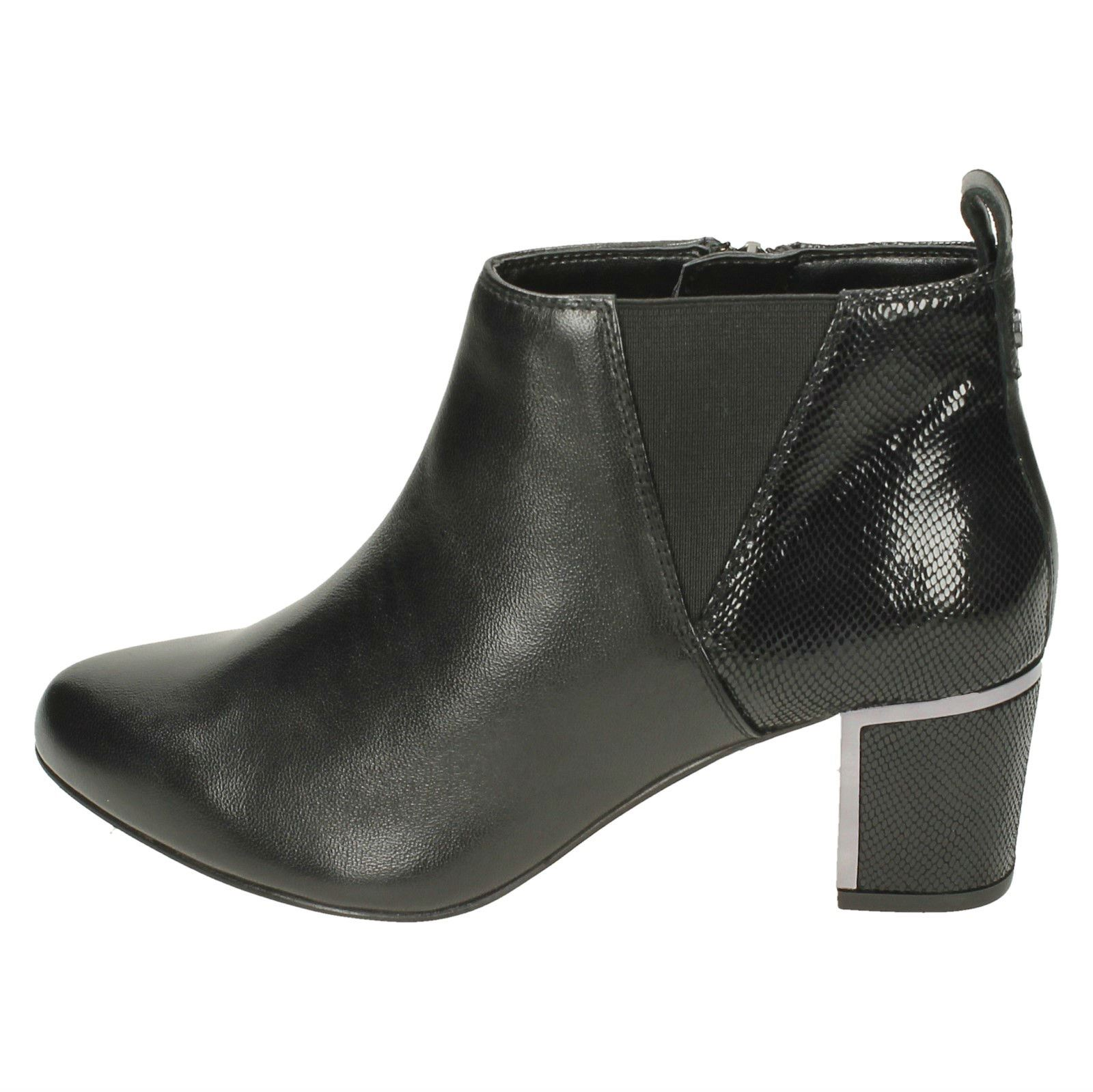 Tangier nero Ever Dal Nero large rettile Up in Stivaletti Donna Fit Van Zip Heeled extra pelle Zq187A