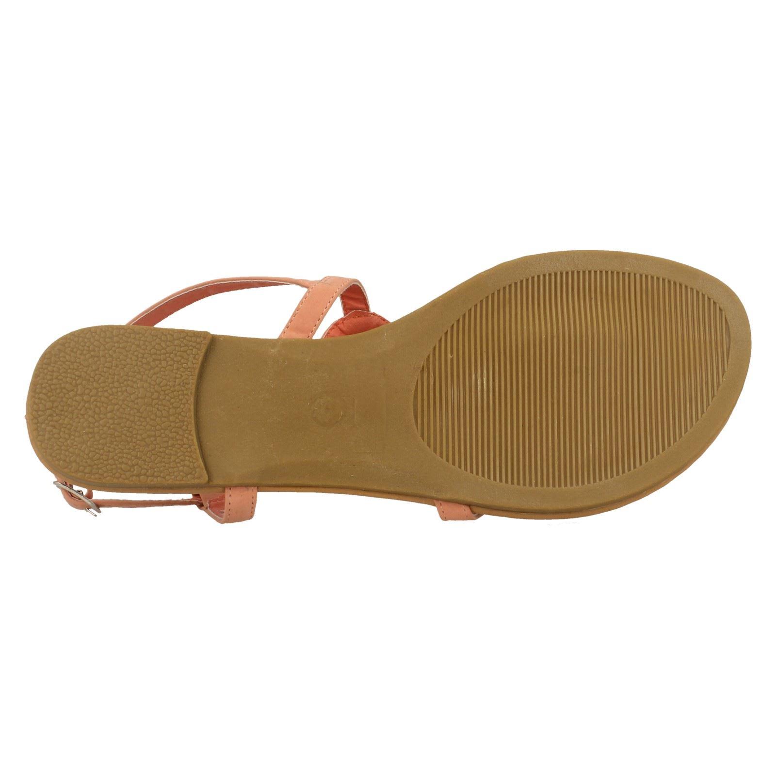 Spot-On-Donna-Open-Toe-Paillettes-Ondulato-Sandali miniatura 25
