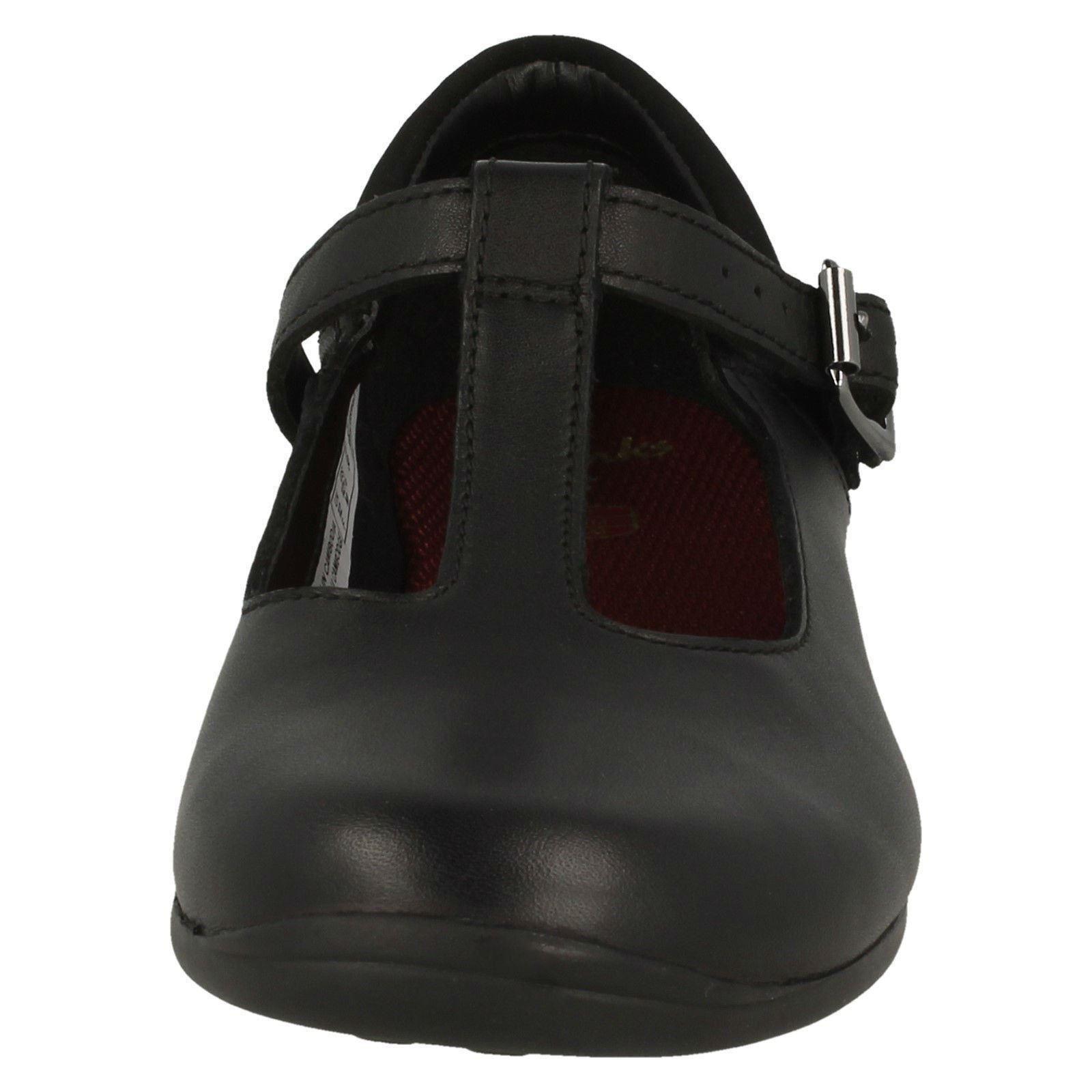 Girls Clarks T-Bar School Shoes Jamie Sky