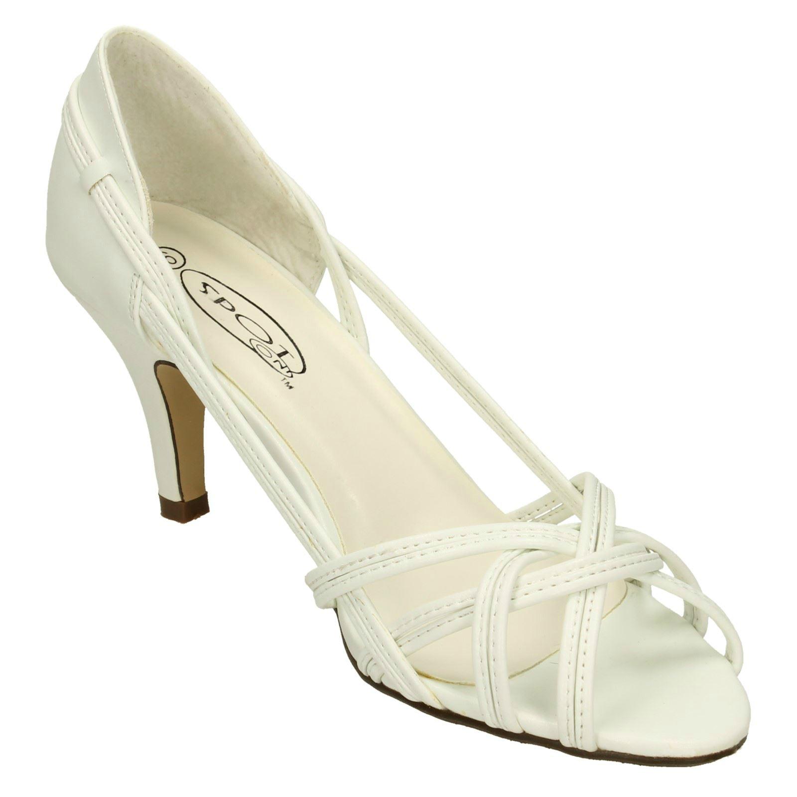 Spot on Damas Tacón Alto Tribunal Zapatos