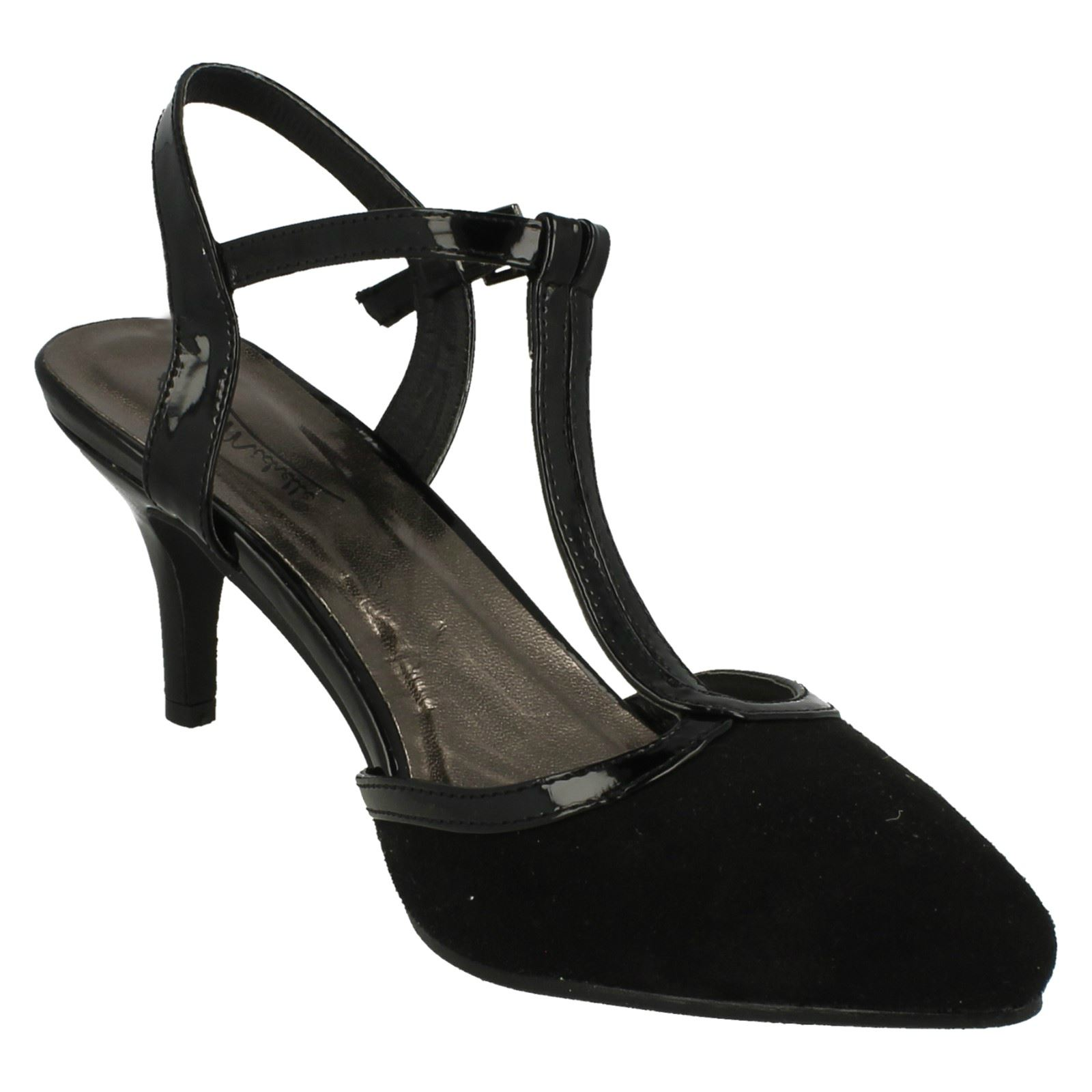 Anne-Michelle-Ladies-Mid-Heel-T-Bar-Court-Shoe thumbnail 8