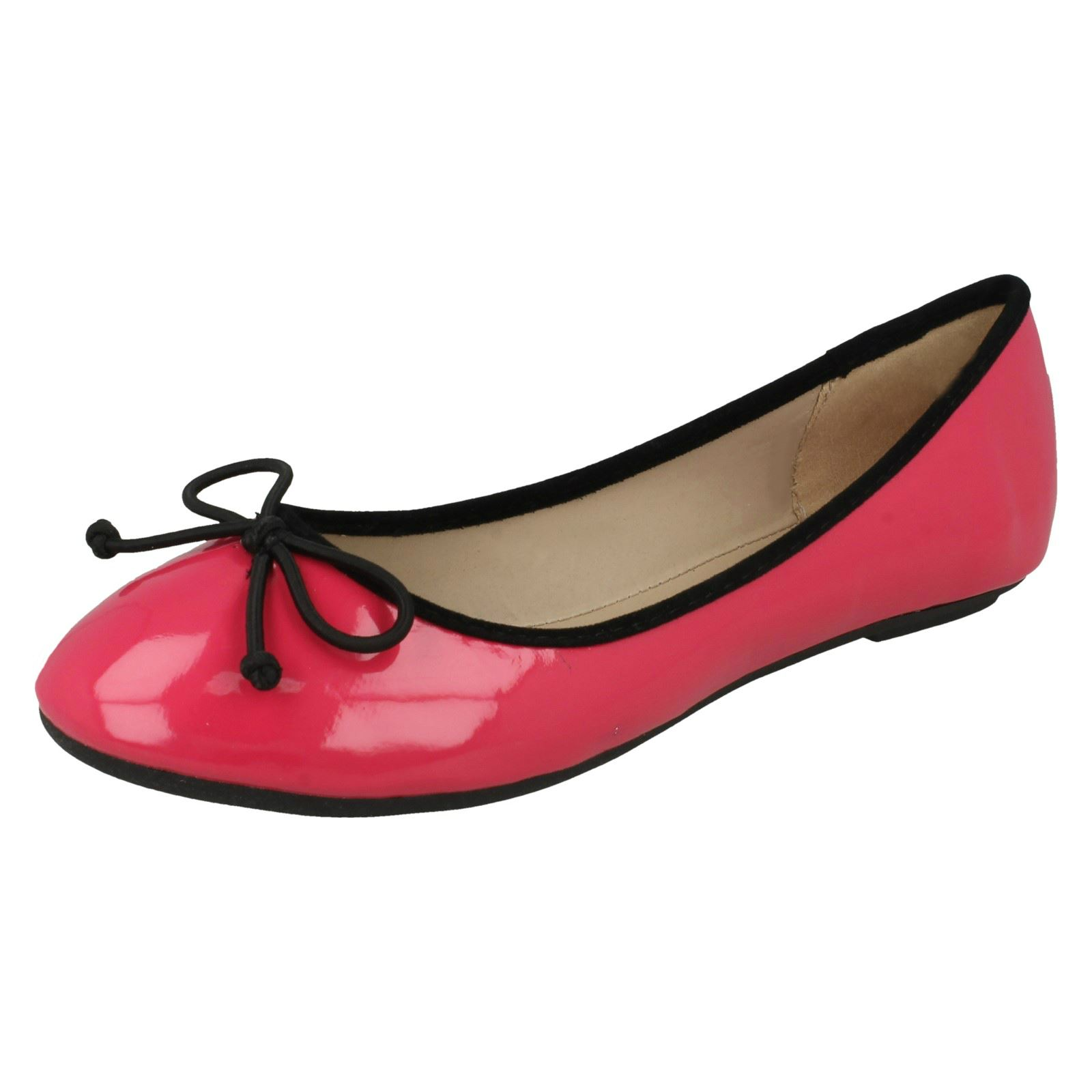 pink Fuchsia Ballerina Spot 'flats' Ladies On RTqxO