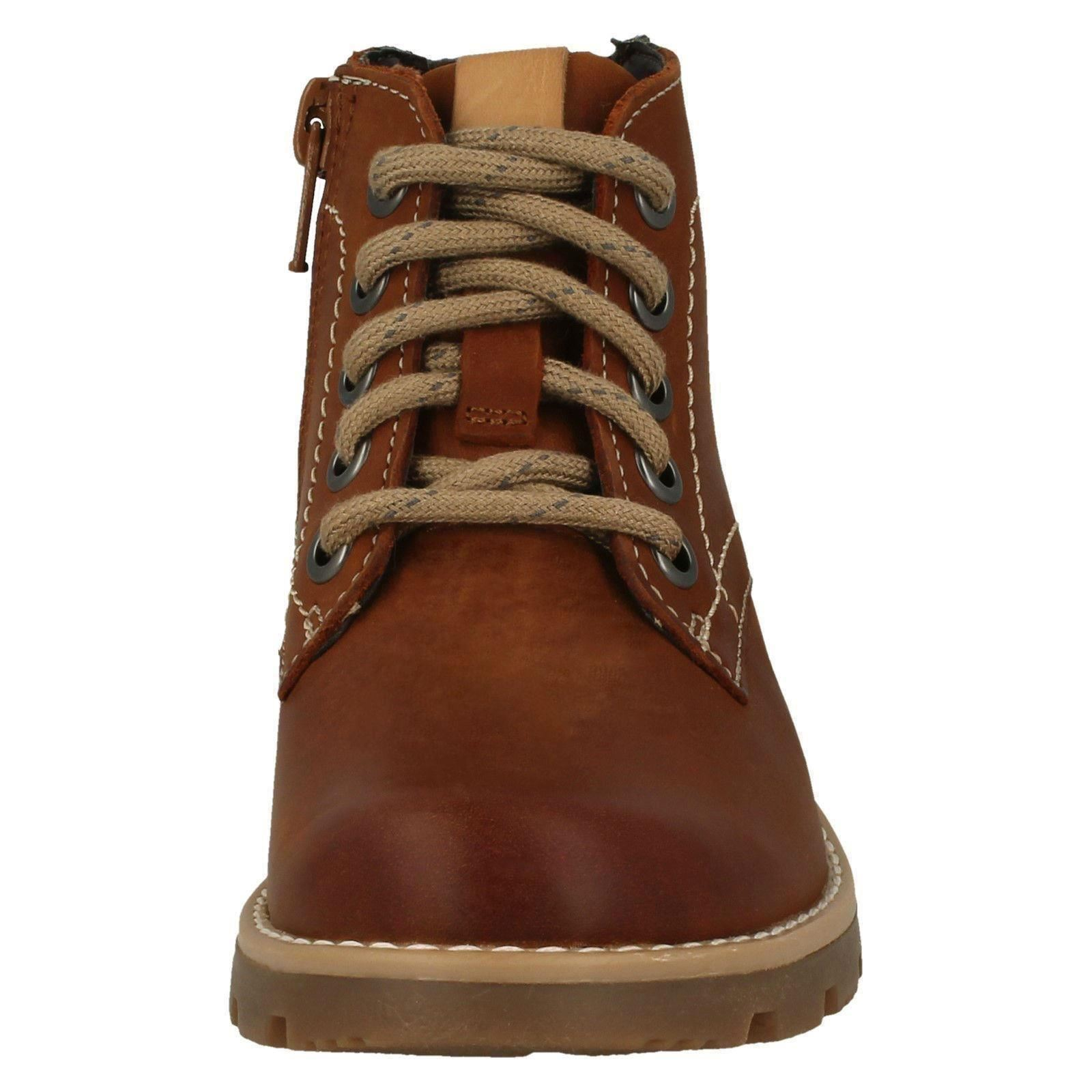 Boys Clarks Stylish Zip Up Ankle Boots Comet Rock