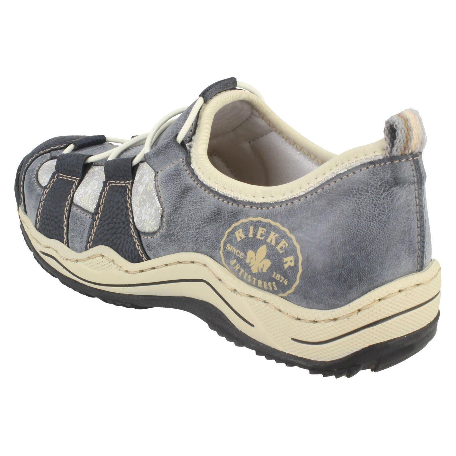 Casual Shoes  l0582  Rieker Combinazione Ladies blu blu twqOtAI 4641caa80a3