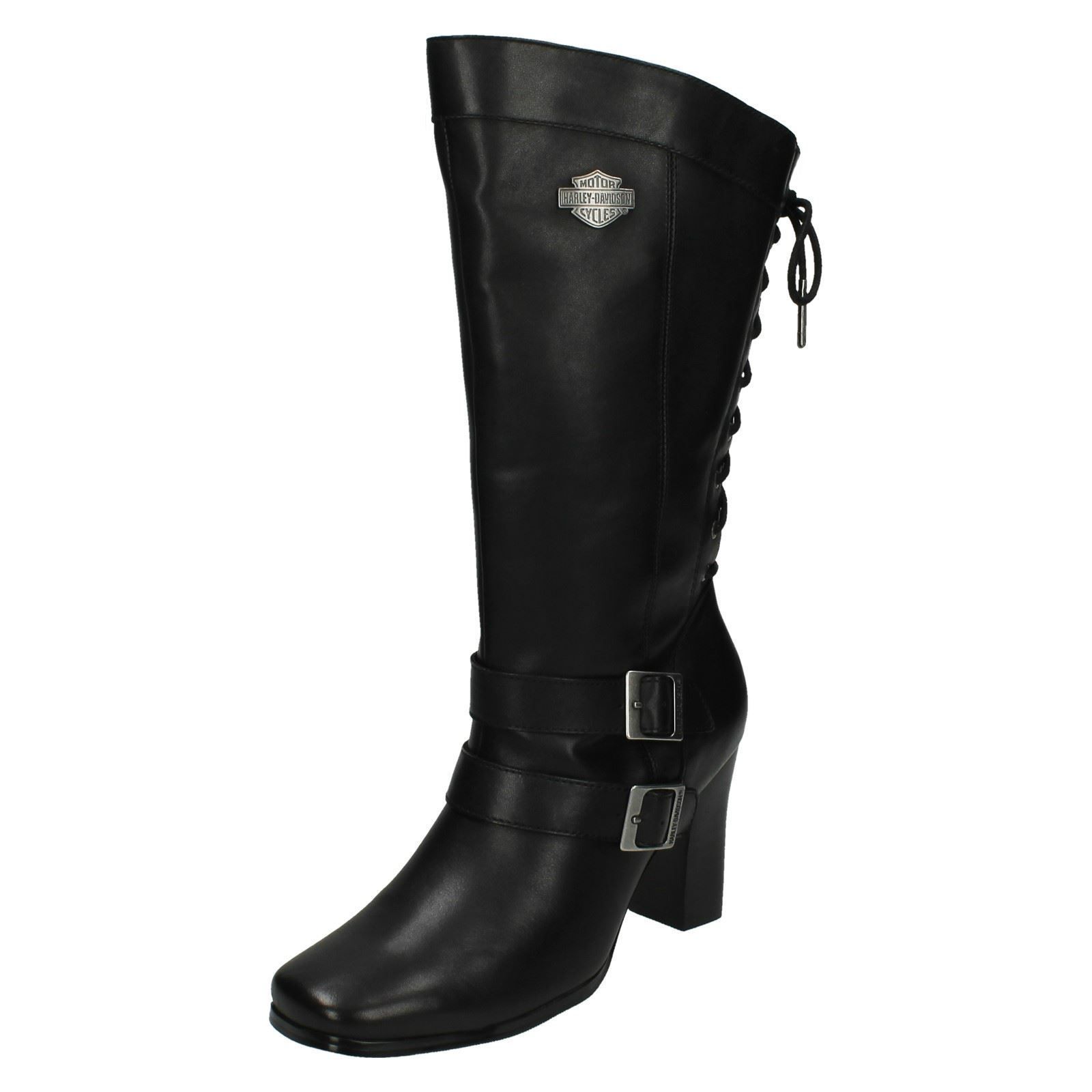 damen harley davidson biker boots 39 shelia 39 ebay. Black Bedroom Furniture Sets. Home Design Ideas