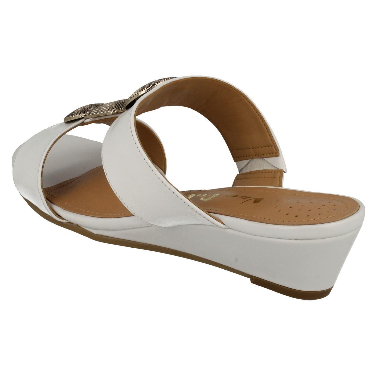 Ladies-Van-Dal-Open-Toe-Slip-On-Summer-Low-Wedge-Leather-Sandals-Epsom thumbnail 4