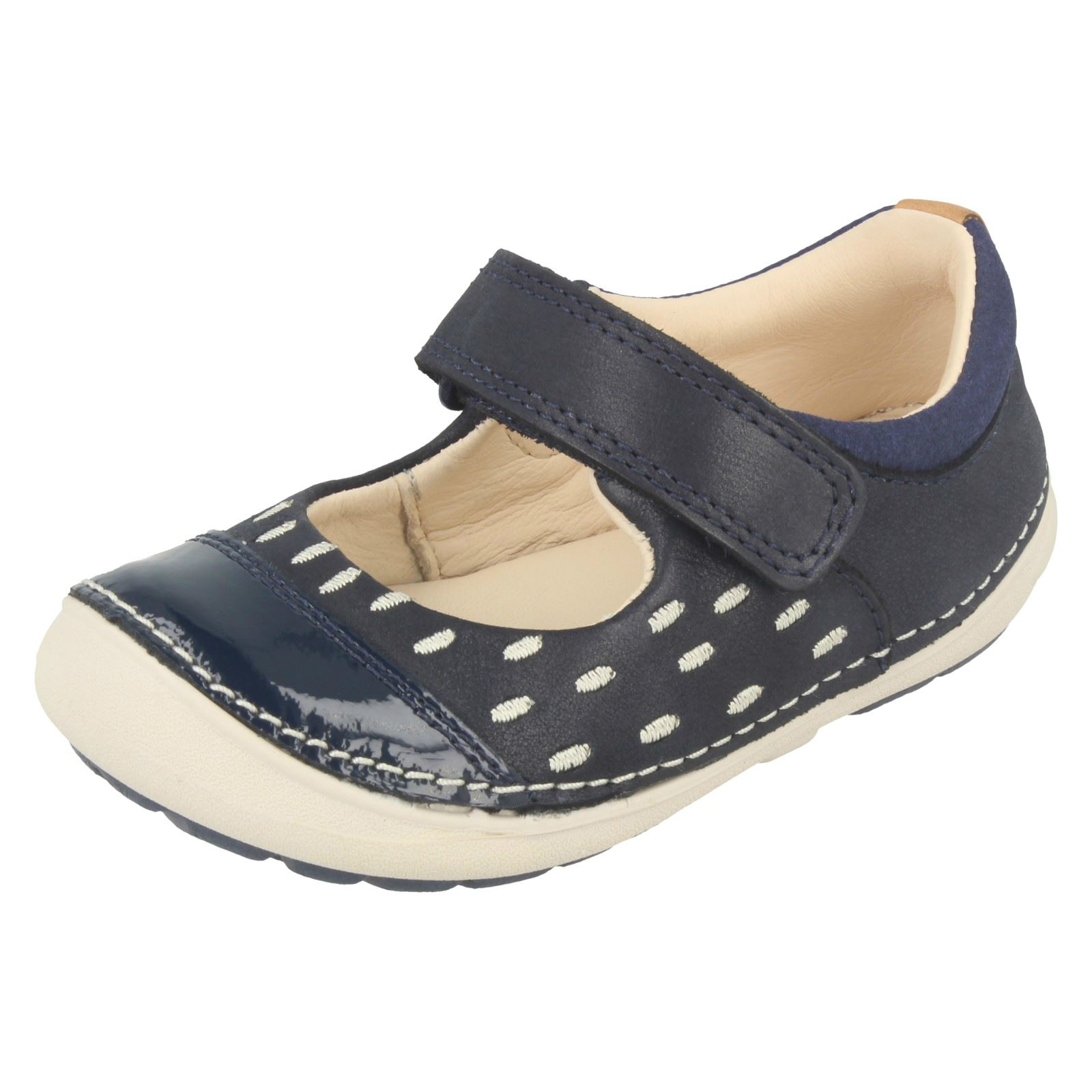 Infant-Girls-Clarks-Hook-amp-Loop-First-Shoes-
