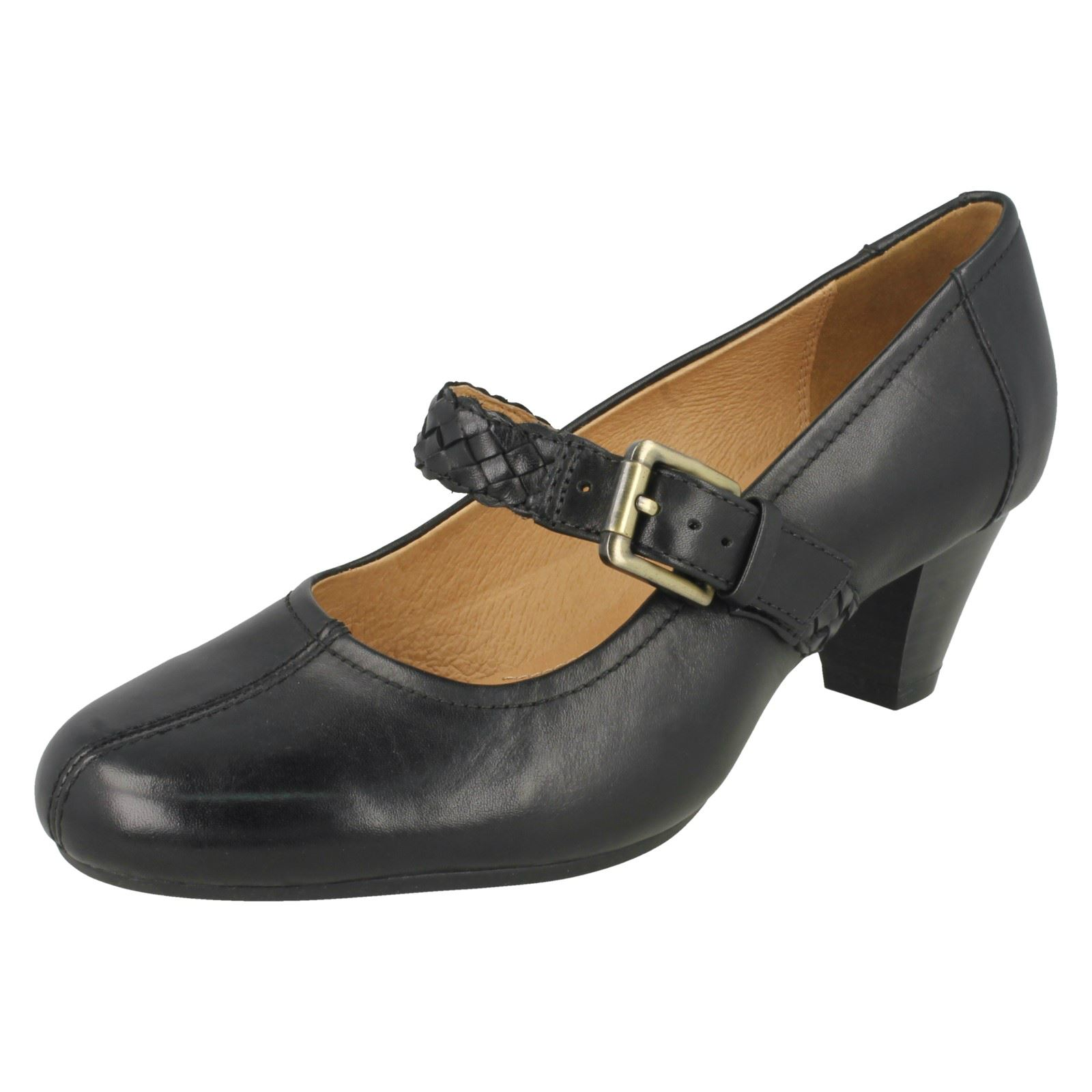 Black Fearne Mary Dew Jane Clarks Ladies Heels TnYxw576