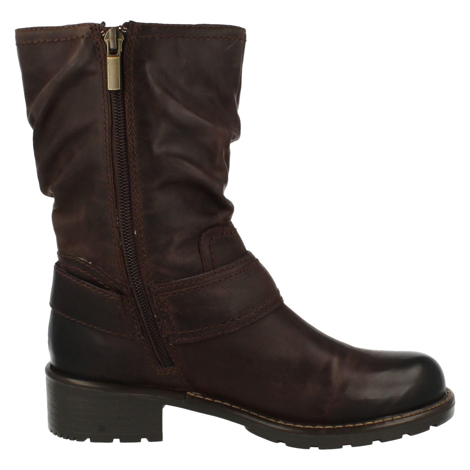 Ladies Clarks Mid Calf Boots Orinoco Jive