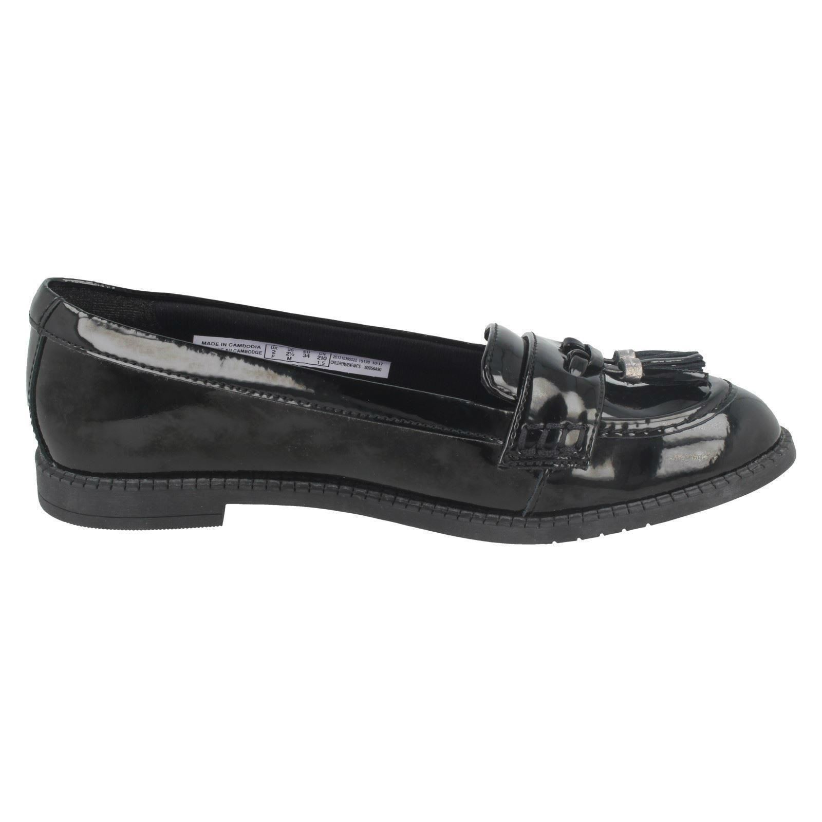 Chicas Clarks Zapatos Escolares Slip On formal Preppy Premio