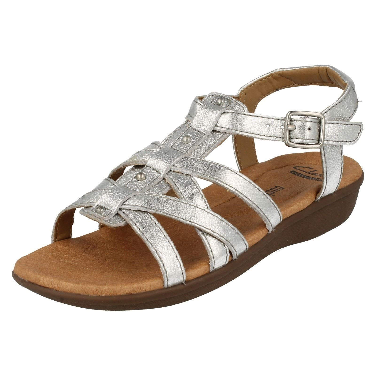 fe5393db8d64 Ladies Clarks Gladiator Style Summer Sandals Manilla Bonita 7.5 UK Silver  D. About this product. Picture 1 of 10  Picture 2 of 10 ...