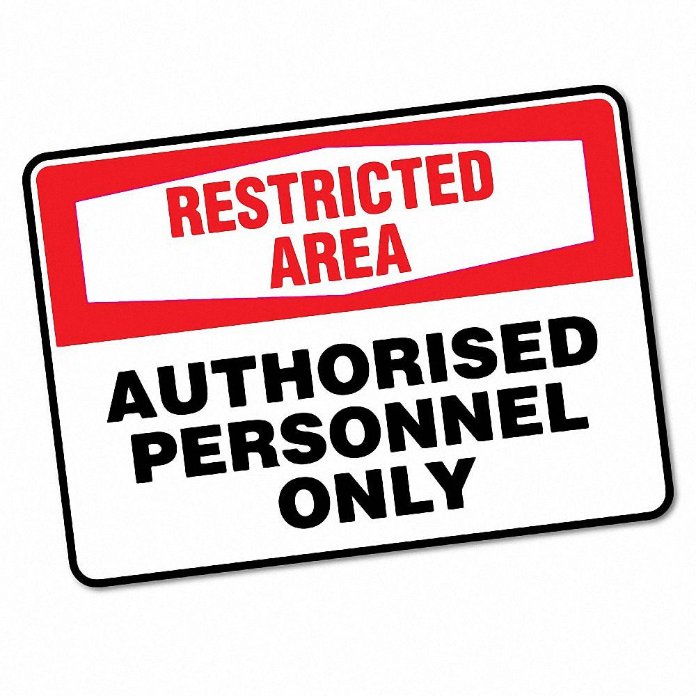 Details about restricted area authorised personnel sticker decal safety sign car vinyl 6613en