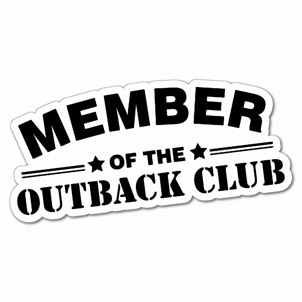 member of the outback club sticker decal outback 4x4 ute