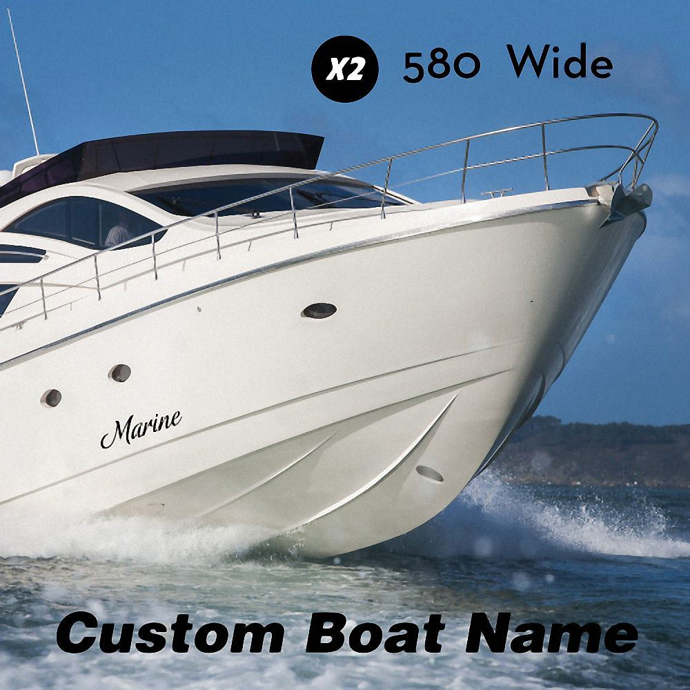Details about 2x custom made boat name 580mm sticker decal car vinyl personalized text 6604en