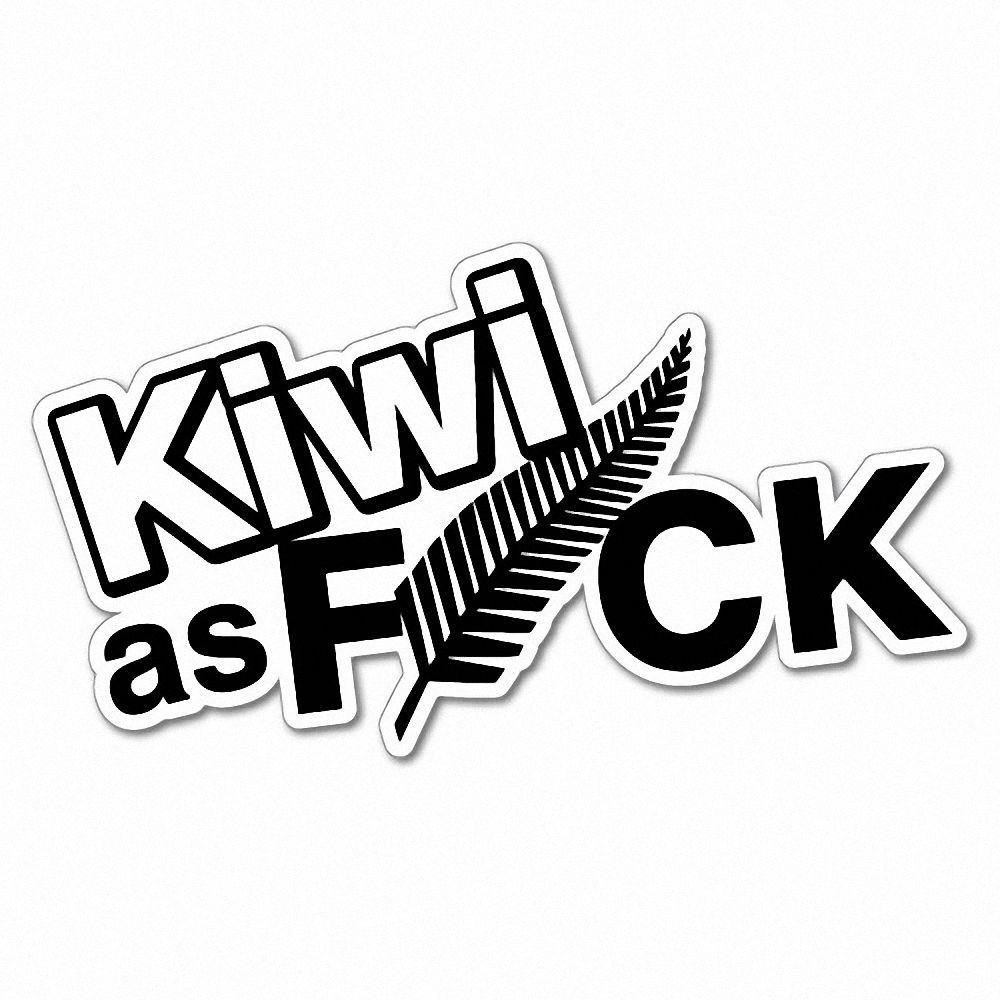kiwi as fck fern sticker new zealand nz kiwi car fern