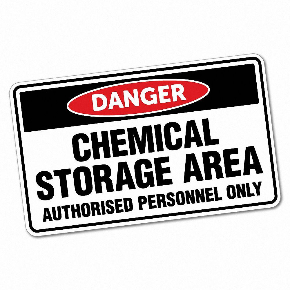 Danger Chemical Storage Area Sticker Decal Safety Sign Car