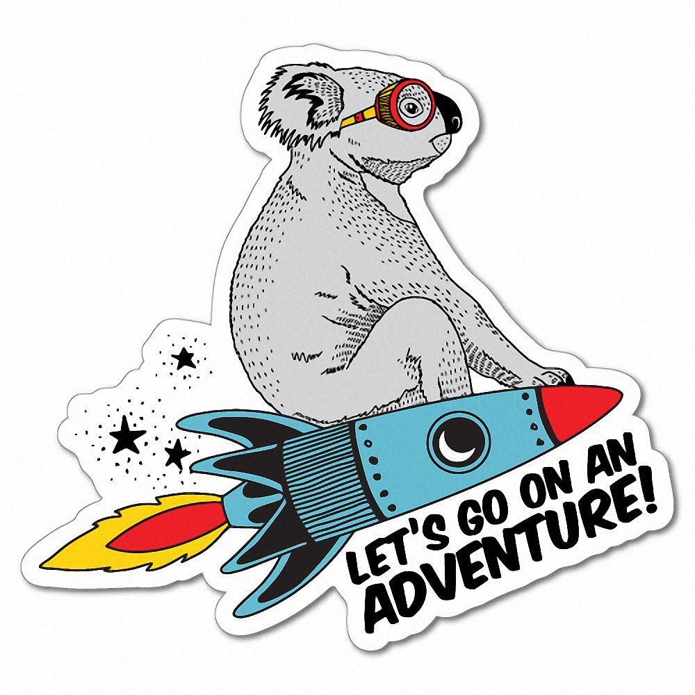 Details about flying rocket koala adventure funny sticker cute 7292en