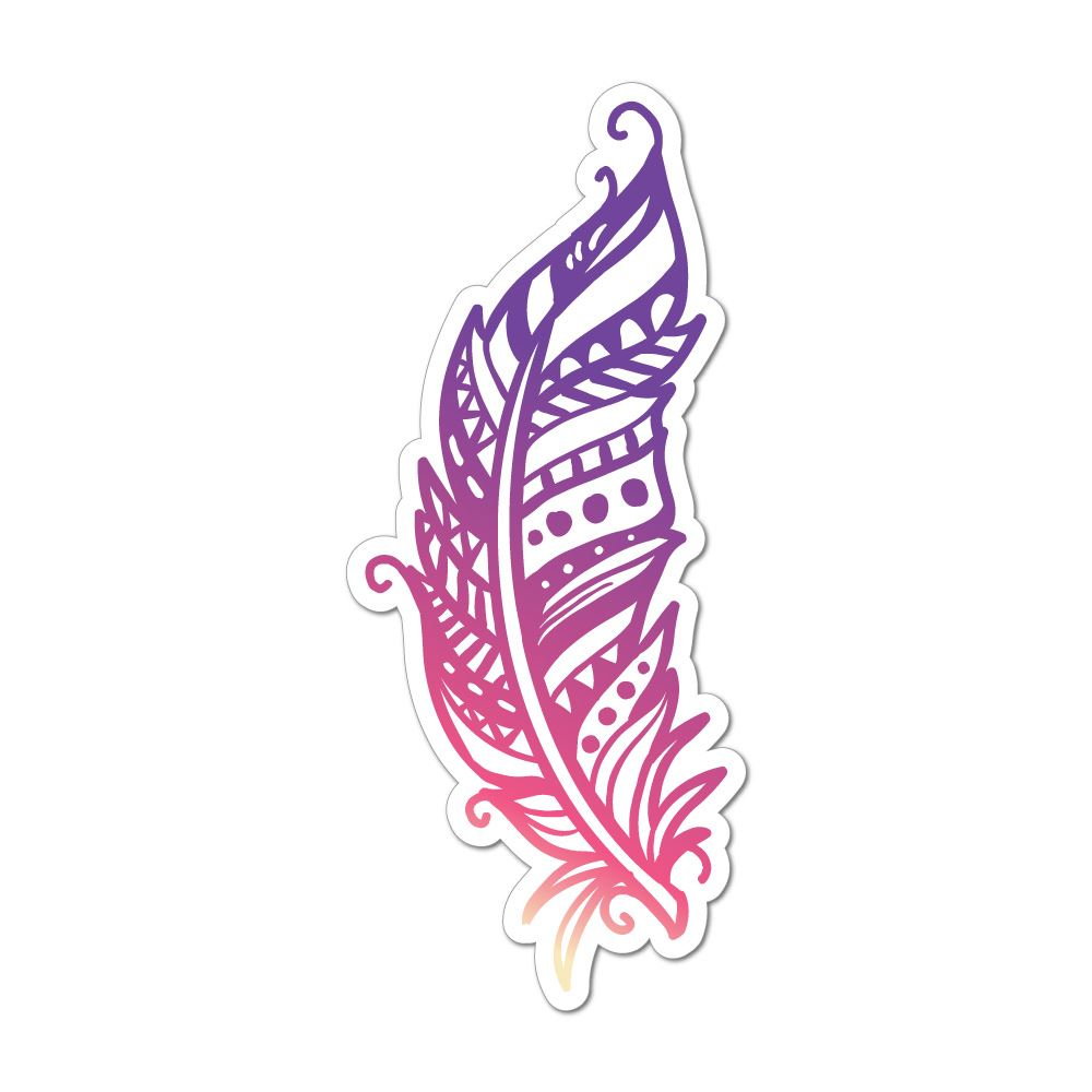 Details about feather car sticker decal hippie magical free spirit universe spiritual boho