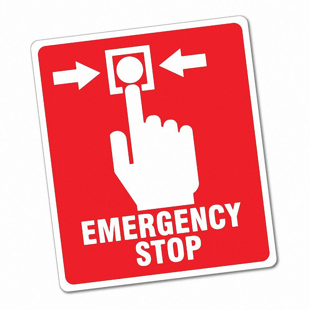 Details about emergency stop button sticker decal safety sign car vinyl 6783en