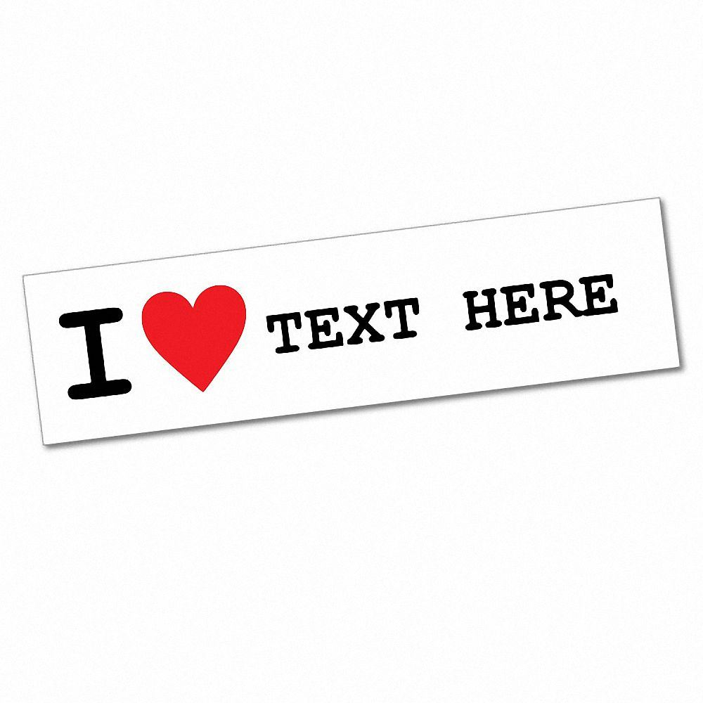 Details about custom text i love sticker decal car vinyl personalized text 6334en