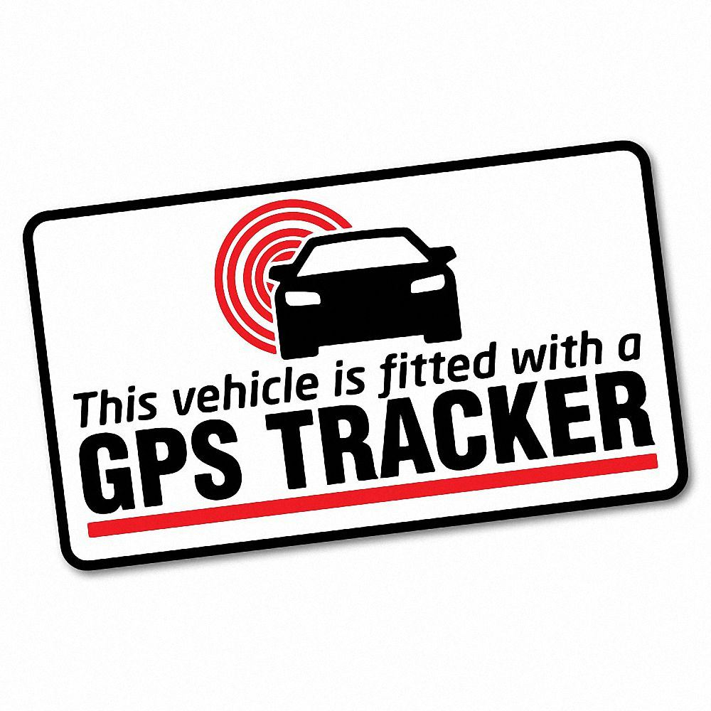 Details about gps tracker fitted warning sticker decal safety sign car vinyl 6601en
