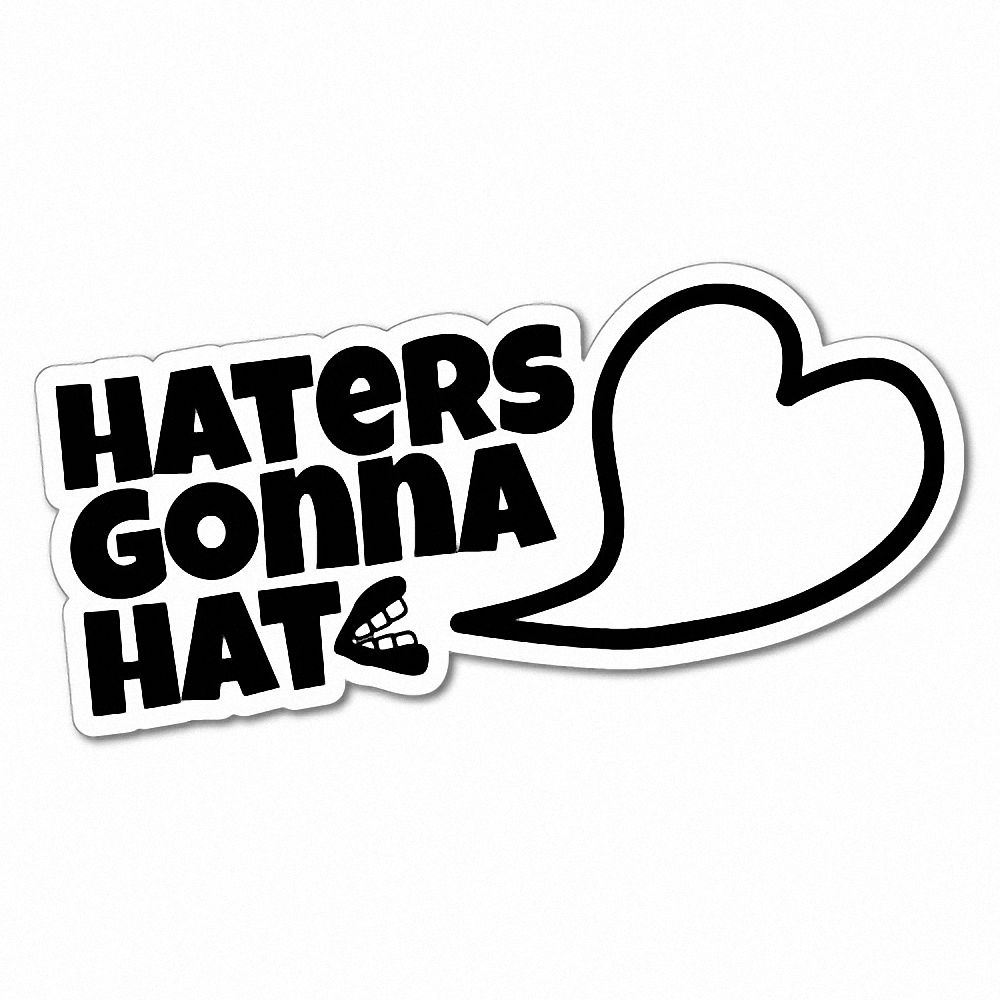 5ae505193 HATERS GONNA HATE Sticker Decal JDM Car Drift Vinyl Funny Turbo ...