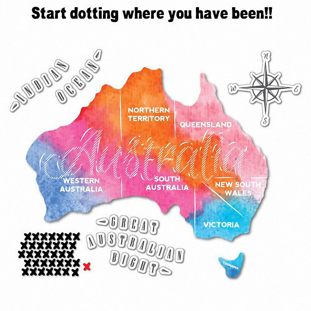 Map Of Australia Funny.Rainbow Australian Travel Map Sticker Aussie Car Flag 4x4 Funny Ute