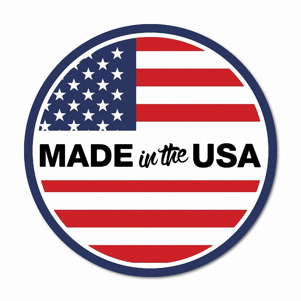 Made in the usa round flag america sticker flag bumper water