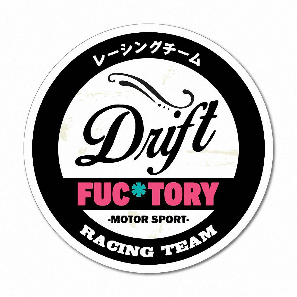 Details about drift fuctory factory racing team funny sticker decal jdm car drift vinyl fu