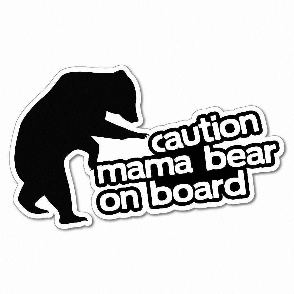 caution mama bear on board funny sticker decal car vinyl