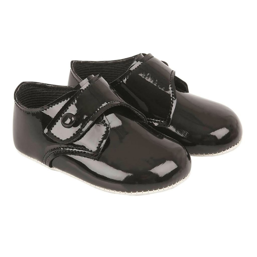 8452b5989d792 Baby Boys Pram Shoes Gibson Button Traditional Pre-walkers - Early ...