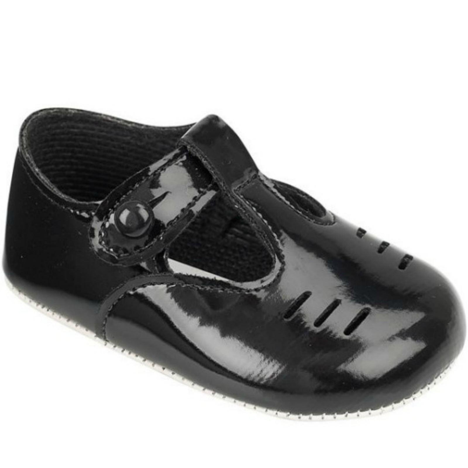Baby Boy s Pram Shoes Prewalkers Blue Black Ivory White