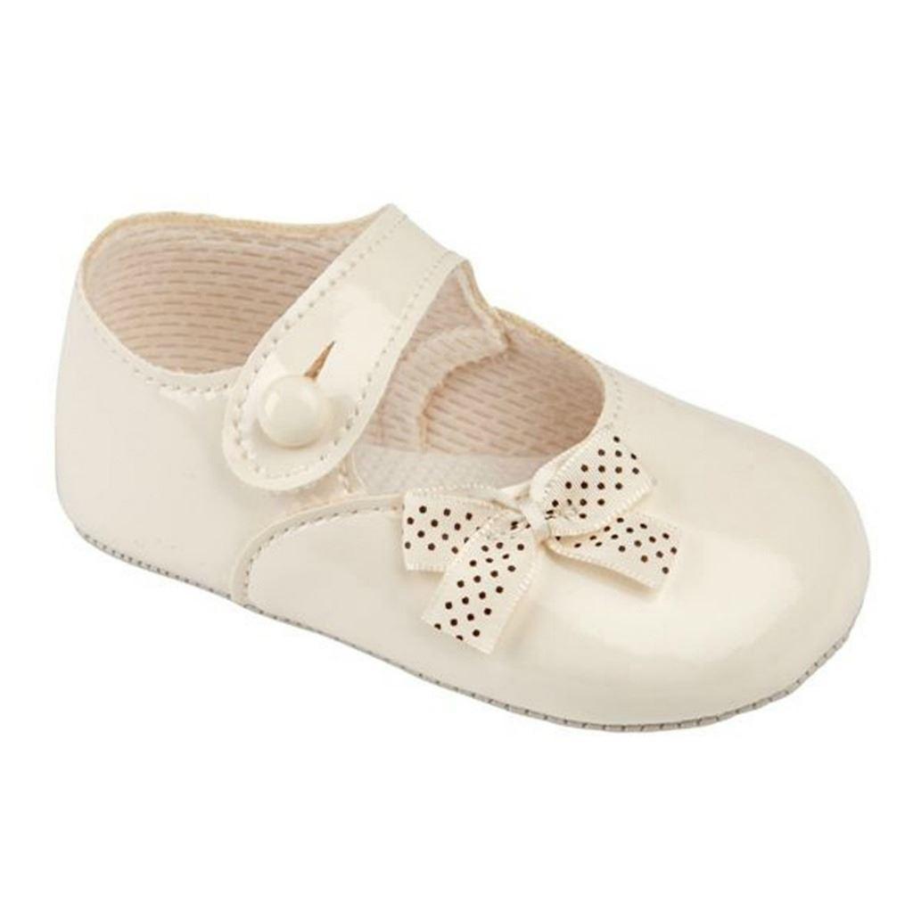 Bebé Niñas Zapatos-Bautizo Boda Fiesta-Polka Dot Bow primeros días Baypods