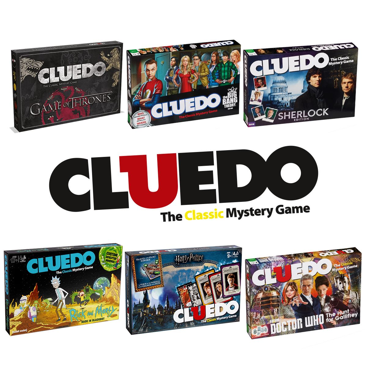 Doctor Who Cluedo mystère Board Game