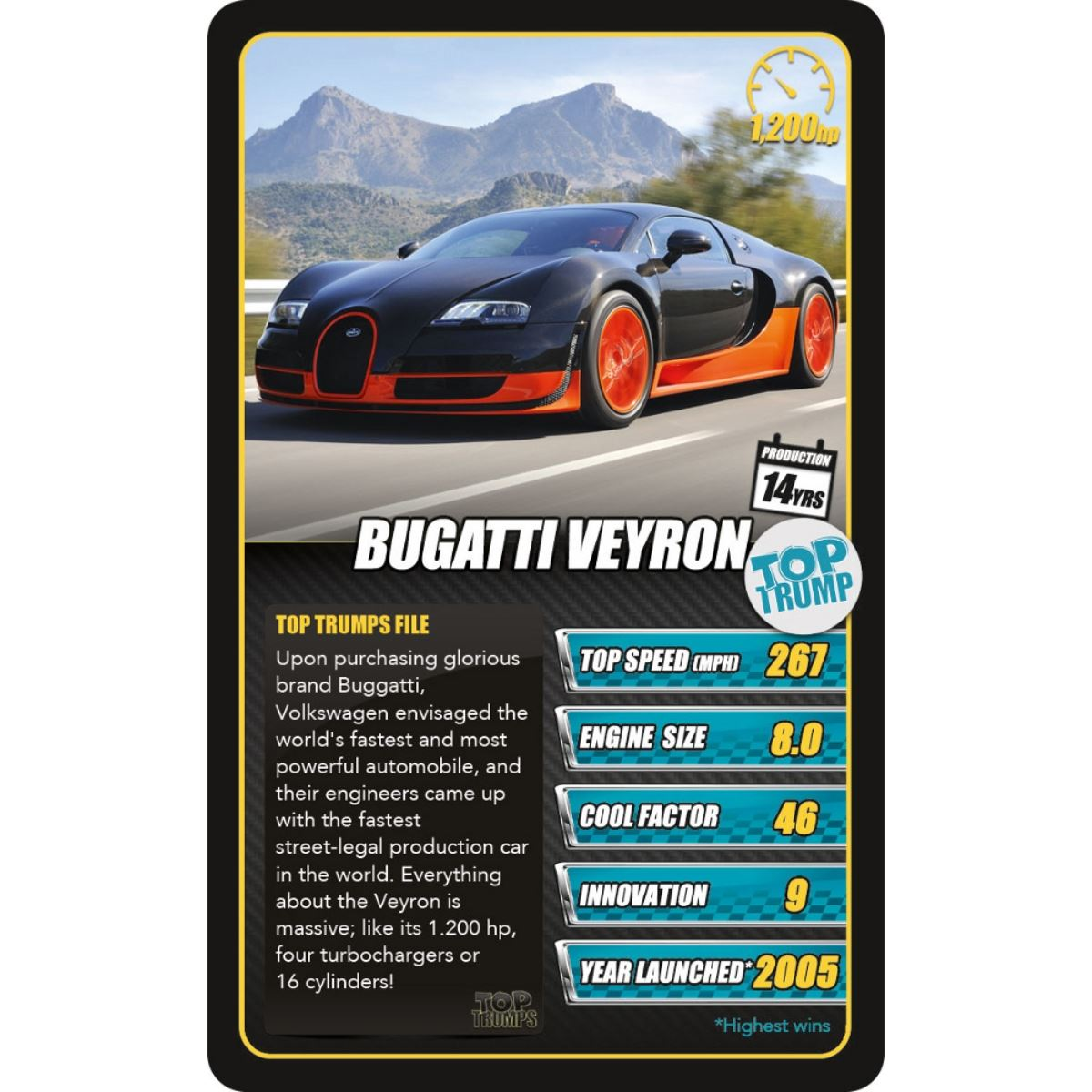 Sports Cars Top Trumps Card Game 5036905022811