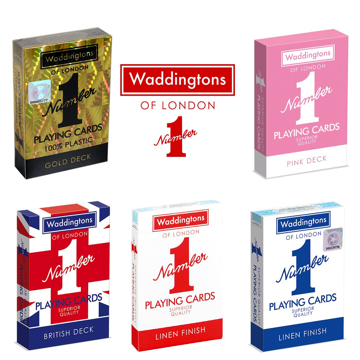 Classic Pink Waddingtons Number 1 Playing Cards