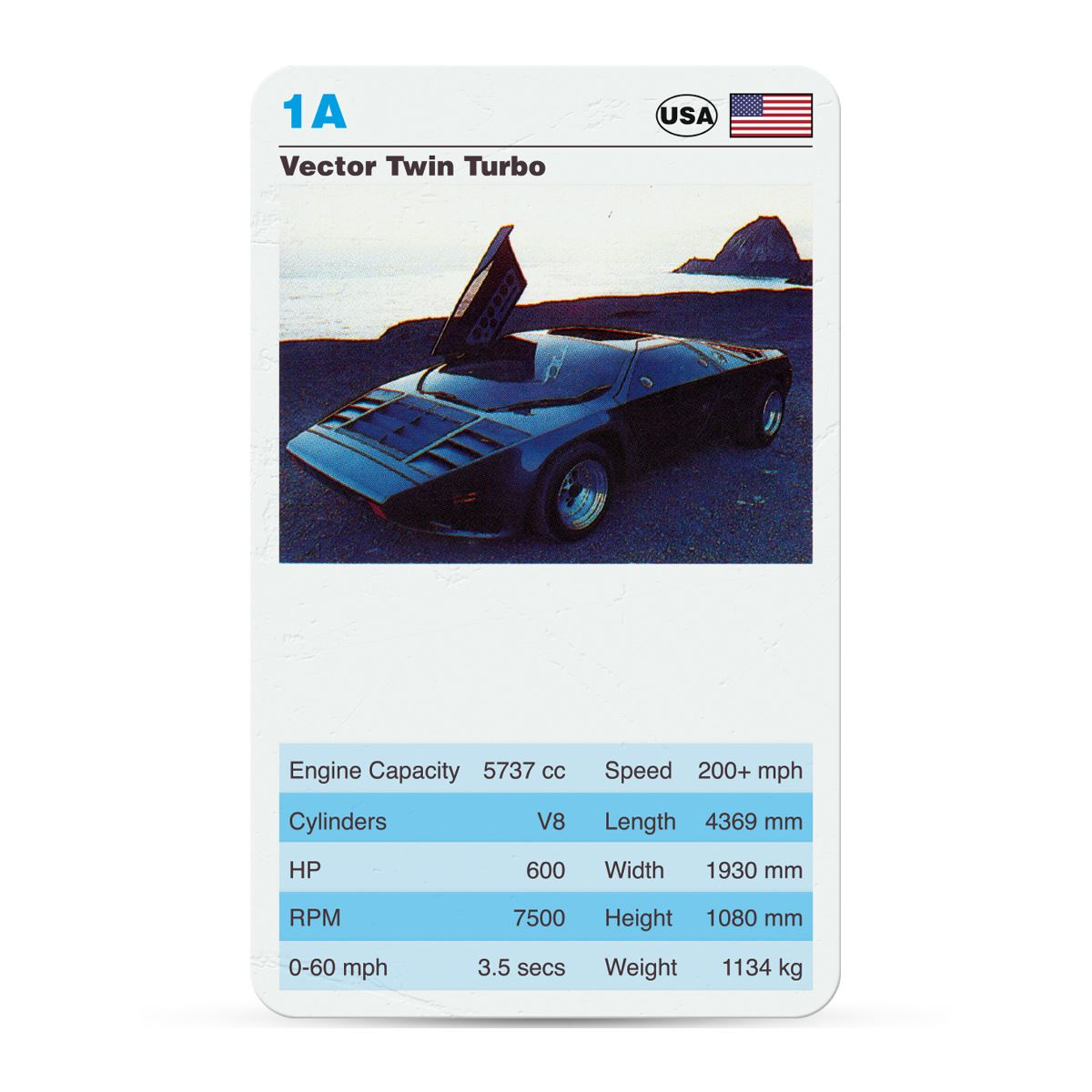 Exotic Sports Cars Retro Top Trumps Card Game - Sports cars top trumps