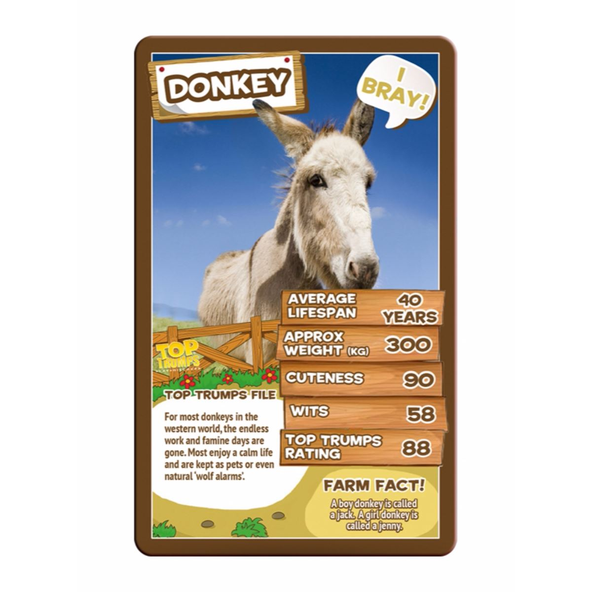 Details about Farm Animals Top Trumps Card Game