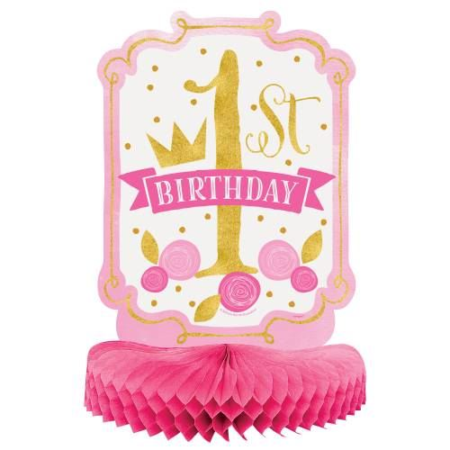 Pink And Gold Princess 1st Birthday Party Fresh Pink And: 1st Birthday Pink Gold First Party Tableware Age 1