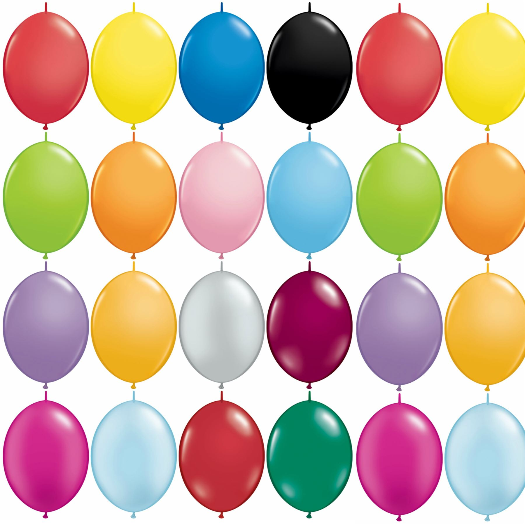 Image Is Loading 6 034 Quick Link Latex Balloons Linking Party