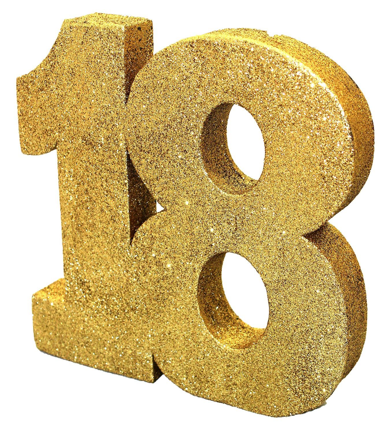 gold glitter age table centerpiece decoration party