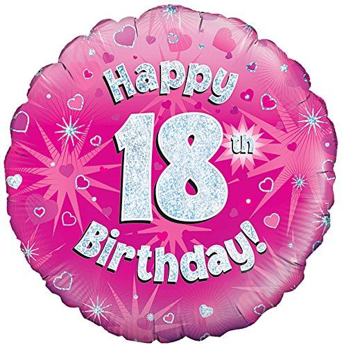 Pink age 18 happy 18th birthday party decorations girls for 18th birthday decoration ideas for girls