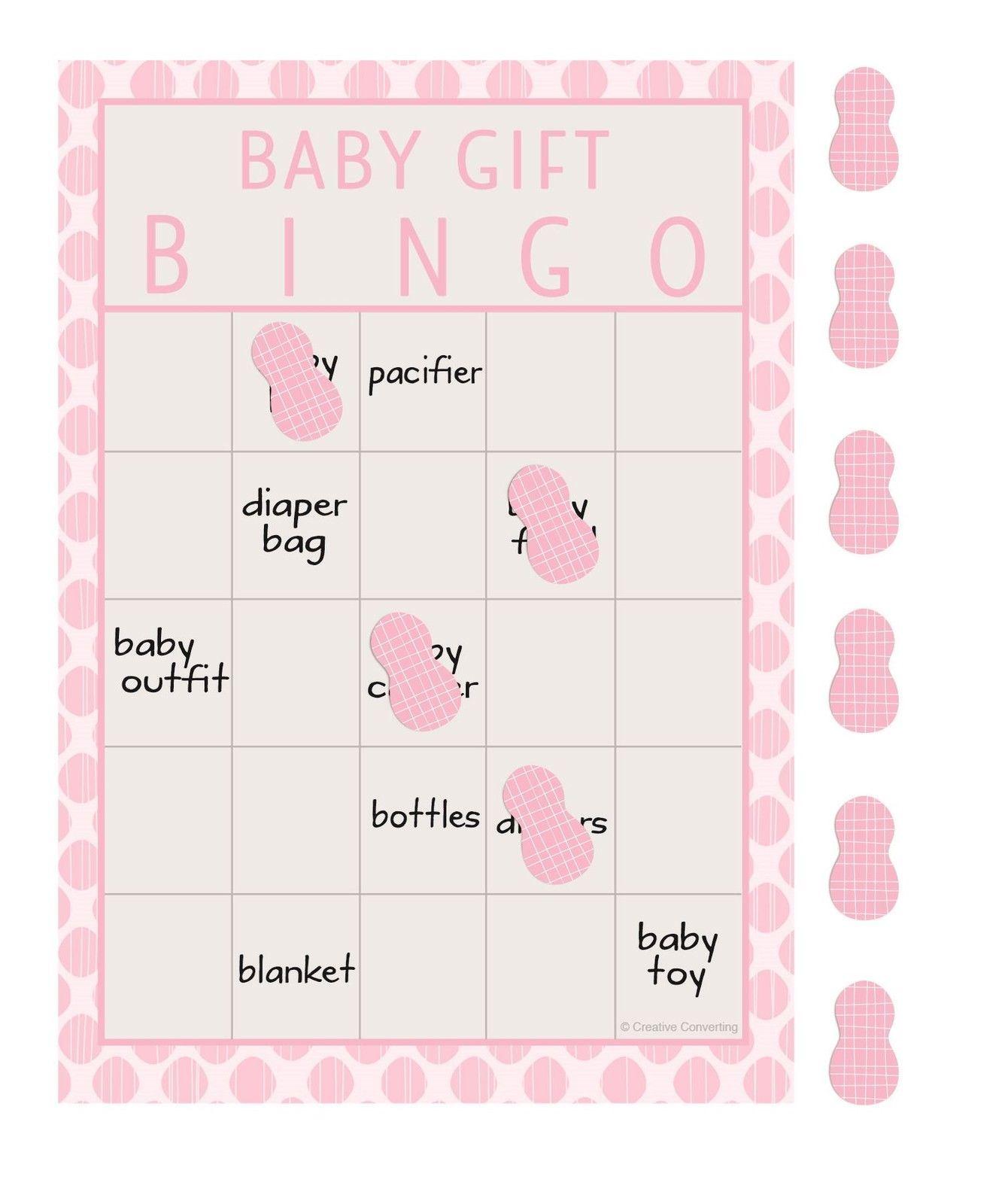 Baby Shower Games Boys Girls Scratch Cards Bingo Activites Game