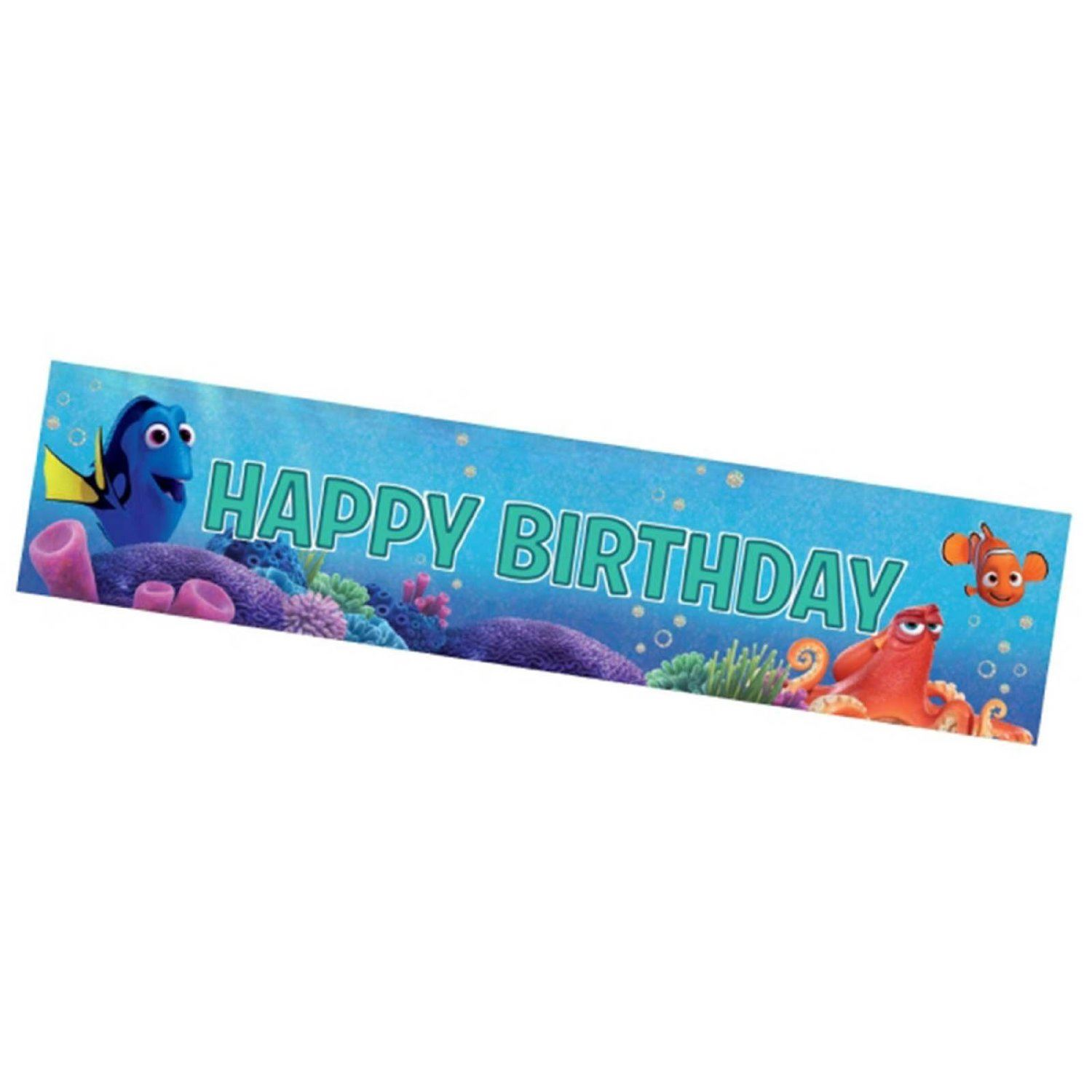 Party Banner Licensed Character Birthday Decorations Flag