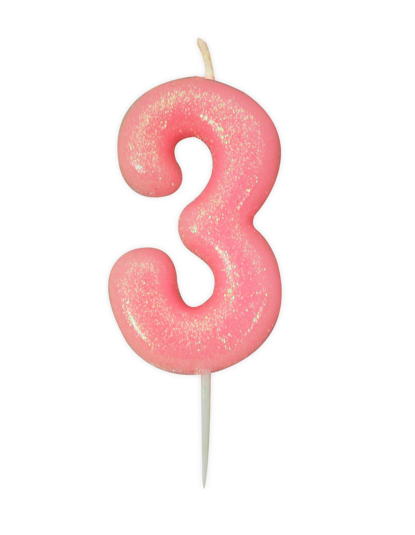 Pink-Glitter-Cake-Candles-Age-Milestone-Birthday-Party-Decorations-Topper-Girls thumbnail 5