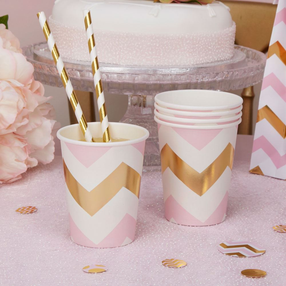Picture 2 of 2 & Pattern Pink Baby Shower Girls Party Decorations Christening ...